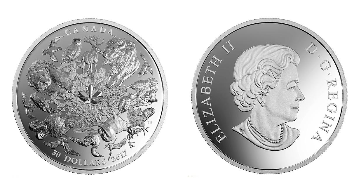 Флора и фауна Канады на новой серебряной монете