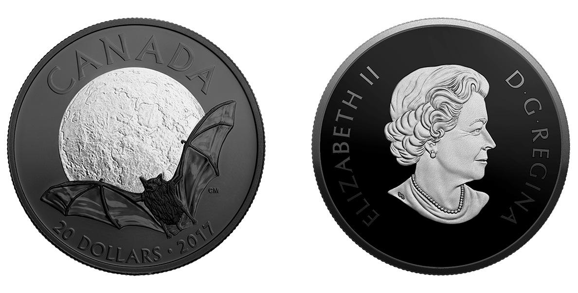 """Серия монет Канады """"Ночная природа"""" с черным родированием"""