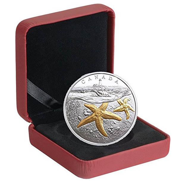 """""""Морская звезда"""" - новая монета Канады из серебра"""