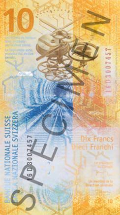 10 франков 2017 Швейцария