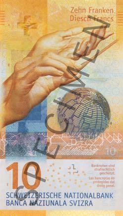3 новые банкноты Швейцарии