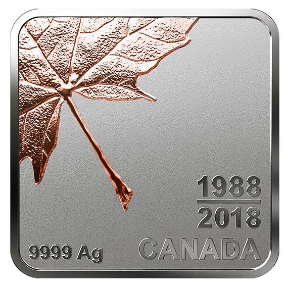 Кленовый лист на 4 монетах Канады