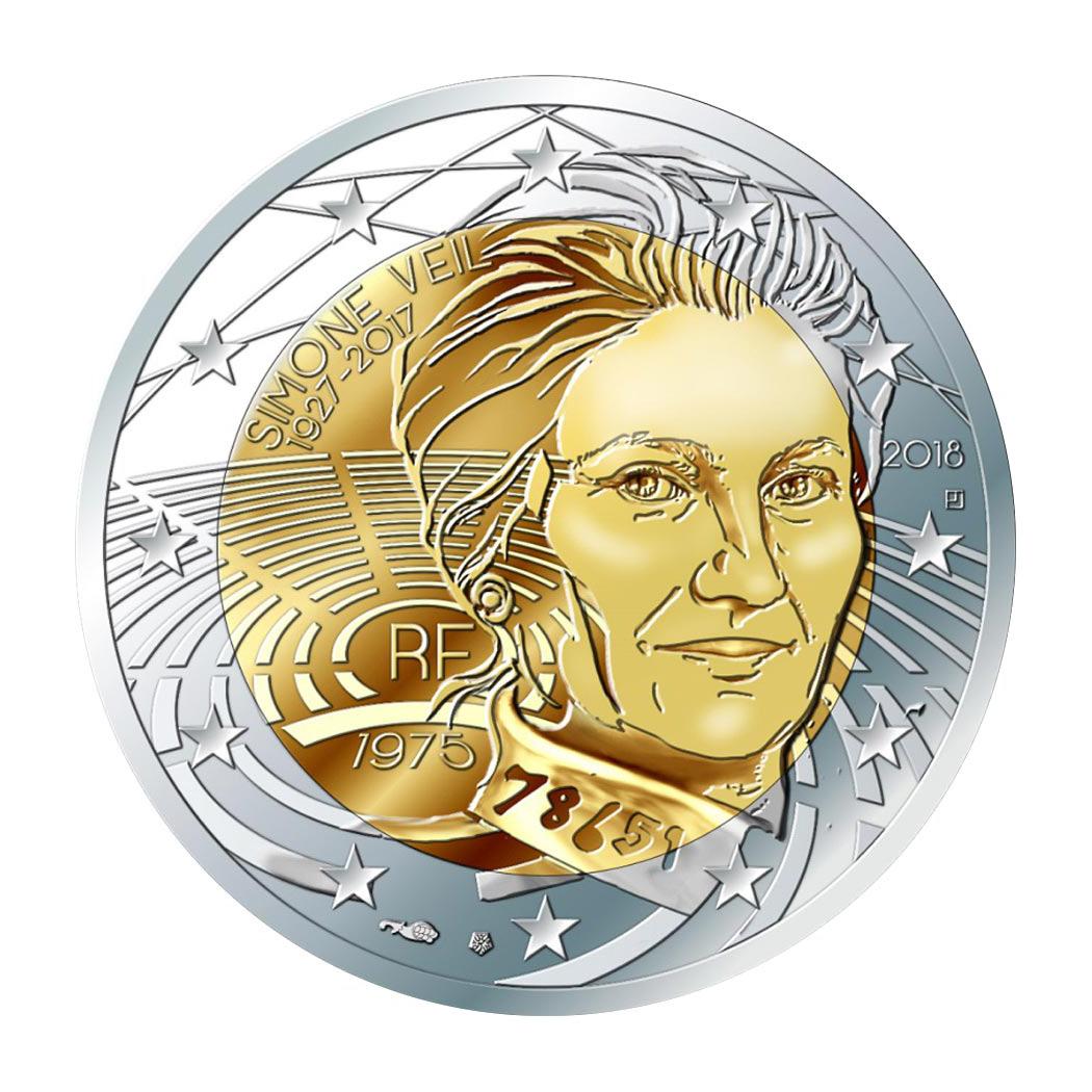 Памятные €2 с портретом Симоны Вейль