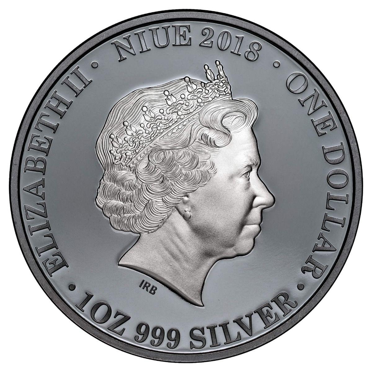 Утконос на серебре от имени острова Ниуэ