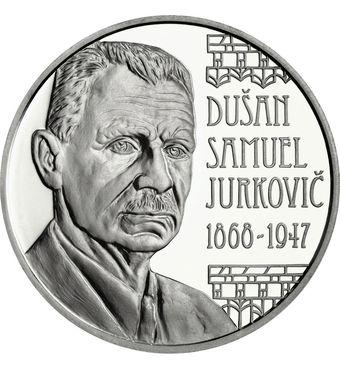 €10 к юбилею словацкого архитектора Душана Юрковича