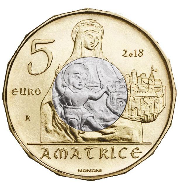 """5 евро из серии """"Культурное наследие"""": Аматриче"""