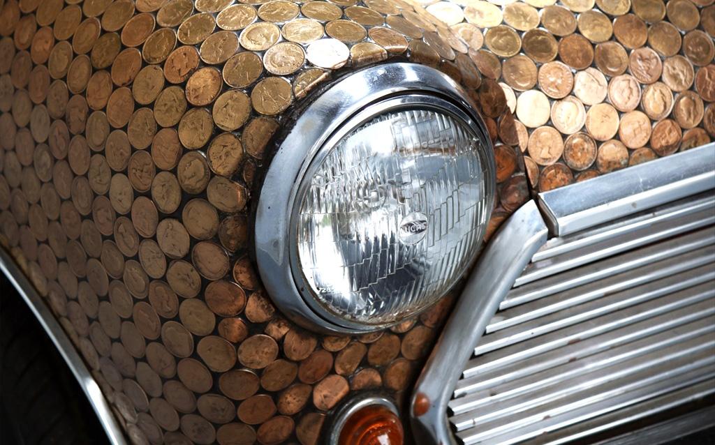 Наследие The Beatles: покрытый монетами MINI