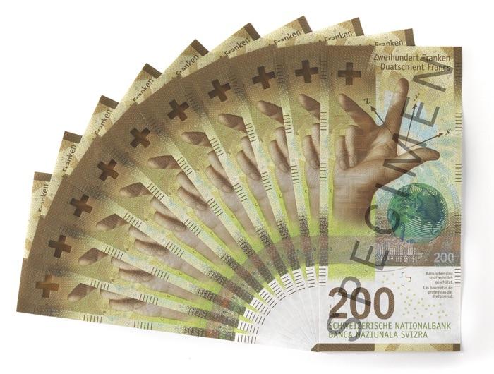 Наука Швейцарии на 200 франках