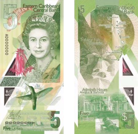 Новое поколение банкнот Восточных Карибских островов