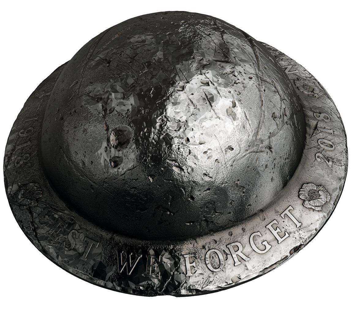 25 долларов в форме солдатского шлема