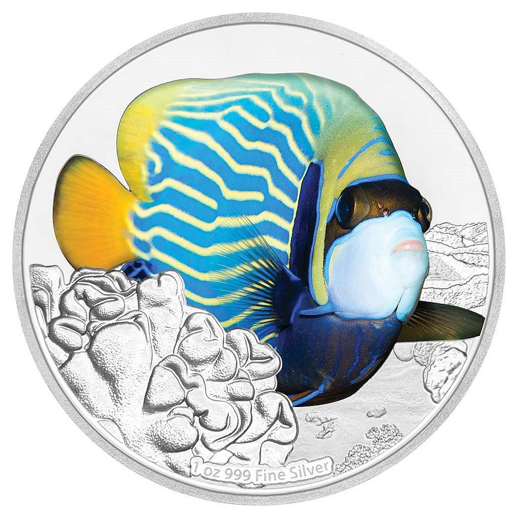 Рыба-ангел на 2 долларах Ниуэ
