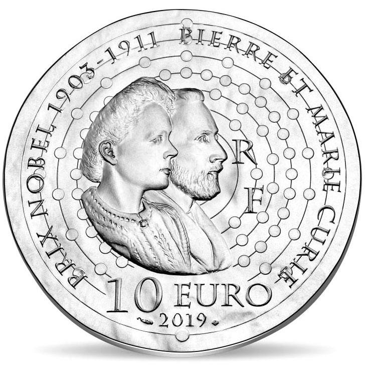 Портрет Марии Склодовской-Кюри на новых евро Франции