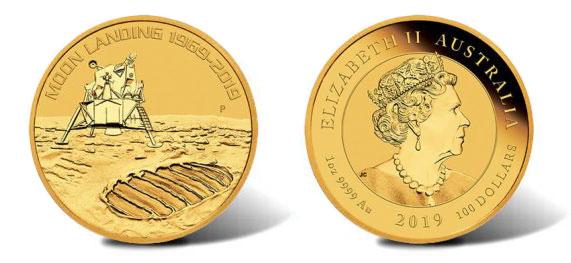 Австралийские доллары в честь 50-летия высадки на Луну