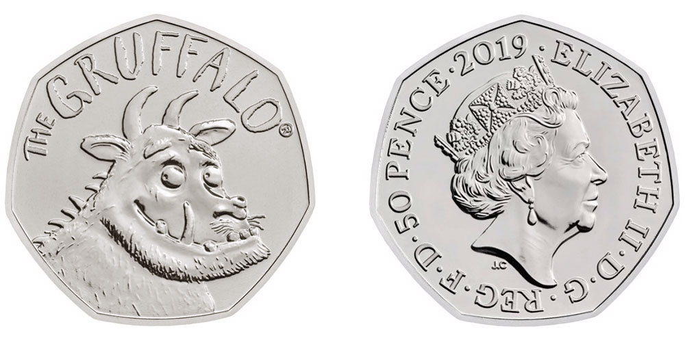 50 пенсов в честь 20-летия Груффало