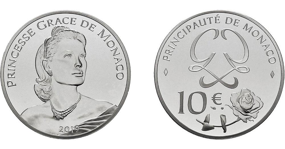 €10 в честь американской актрисы Грейс Келли