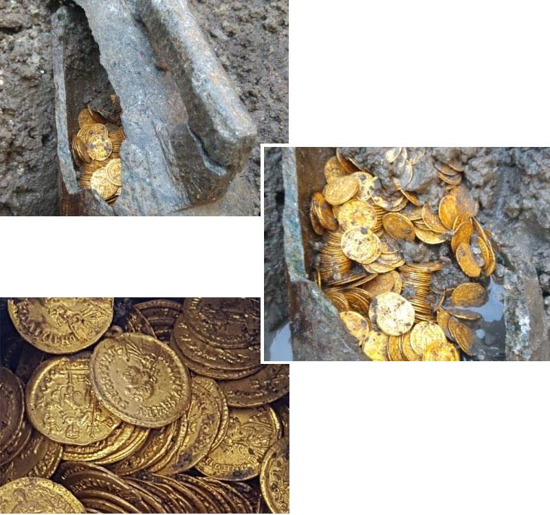 В подвале итальянского театра нашли клад золотых монет