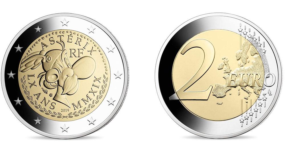 Астерикс на 2 евро Франции