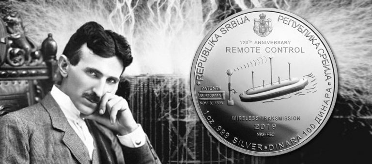 100 динаров в честь изобретателя Николы Теслы