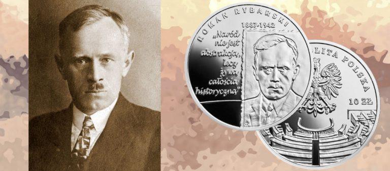 Польские 10 злотых в честь Романа Рыбарски