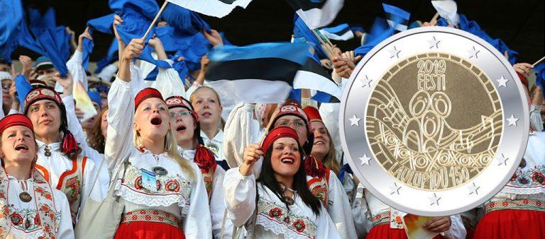 2 евро Эстонии к 150-летию Певческого праздника