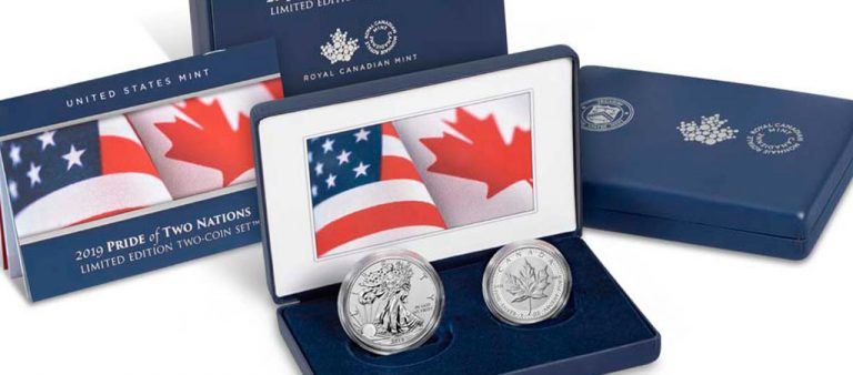 """В США выпустили набор долларов """"Гордость двух наций"""""""