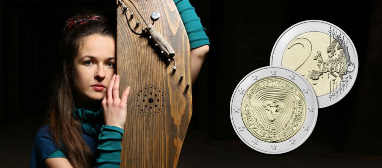 Новые €2 расскажут о народных песнях Литвы