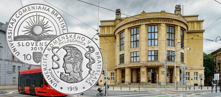 €10 в честь 100-летия университета имени Яна Коменского