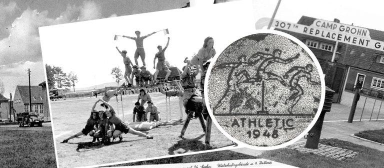Серебряная медаль из лагеря беженцев в Гроне (1948)