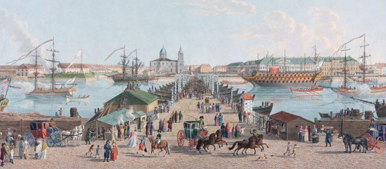Исаакиевский мост на старинных открытках