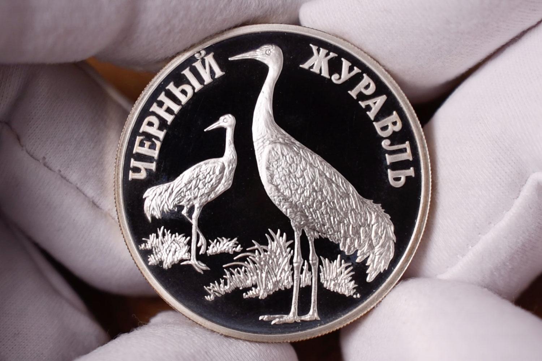 1 рубль 2000 - Черный журавль (реверс)