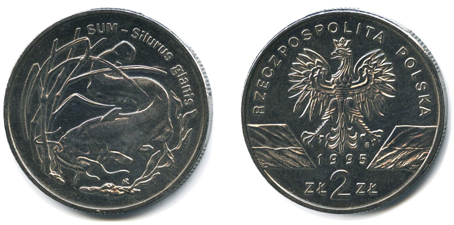 2 злотых 1995 - Сом (Польша)