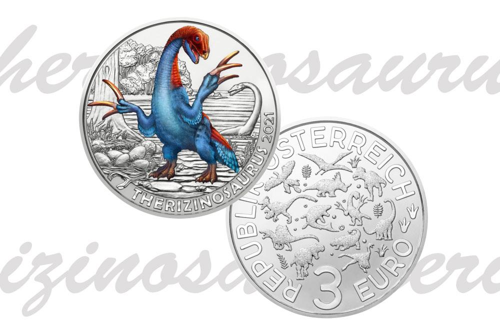 3 евро 2021 - Тиризинозавр