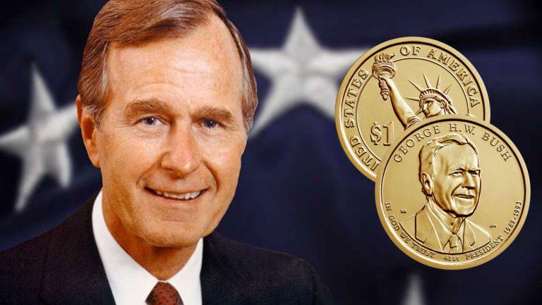 1 доллар 2020 США - Буш (Президенты)