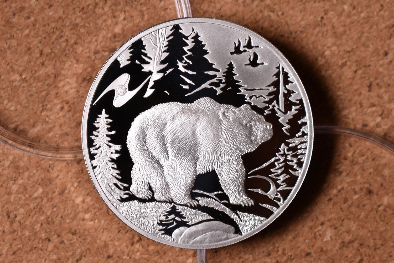 3 рубля 2009 - Медведь (реверс)