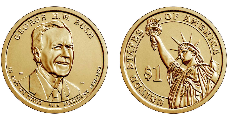 1 доллар 2020 - Буш (США)
