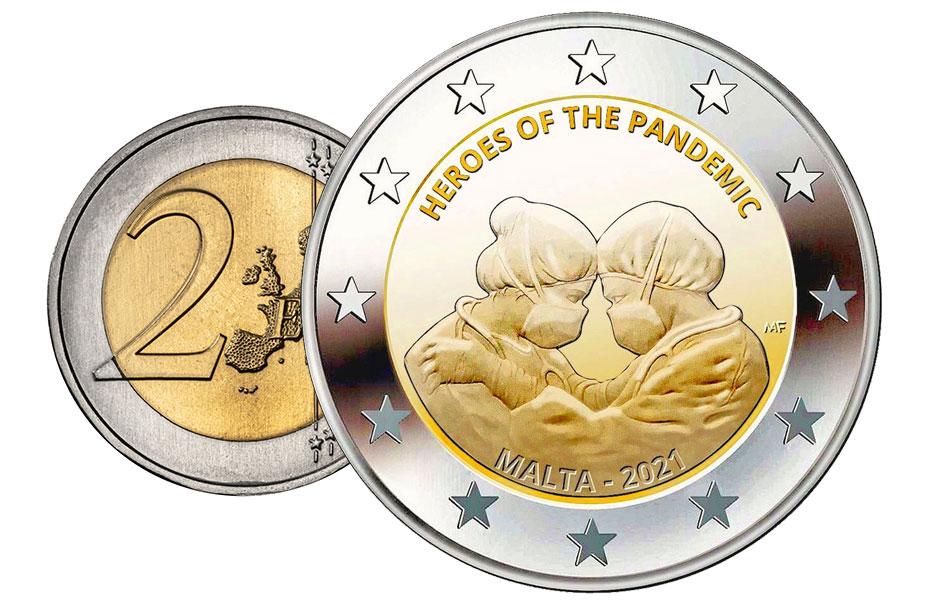 2 евро 2021 - Мальта