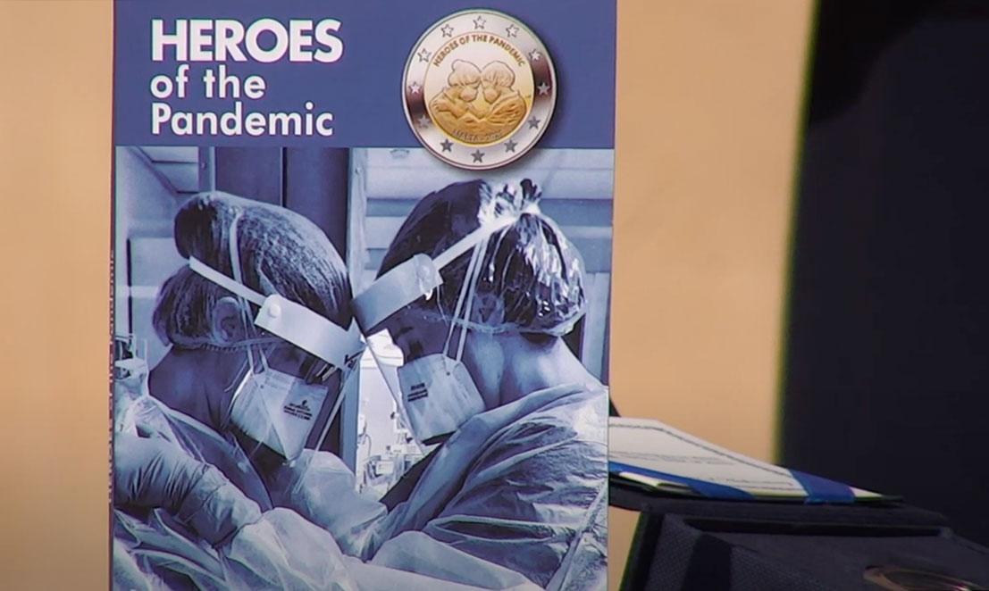 2 евро 2021 - Герои пандемии